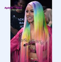 imagens de front lace wig venda por atacado-peruca dianteira do laço personalizado como a imagem