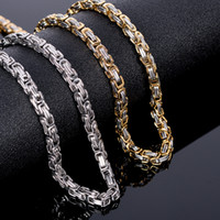 Wholesale thick chains resale online - New arrival Gold Color Thick L Stainless Steel Cable Chain Necklace Men Indian Jewelry Men s Necklace For Him