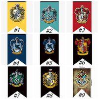 banderas banderas señales al por mayor-Banderas del Partido Colegio Hogwarts de Harry Potter Gryffindor Banner indicador de SIGNO 75 Banderas * el 125CM Casa decoración de la pared de la bandera de poliéster ZZA1347