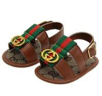 yeni tarz erkek ayakkabıları toptan satış-Yaz bebek sandalet Yeni Stil Yaz Çocuk Boys pu İlk Walker Ayakkabı Bebek Moda kaymaz Ayakkabı
