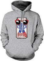 Wholesale college sunglasses for sale - Group buy Beer Vacation In A Can Bar Sunglasses Blue Ribbon Pong College Hoodie Sweatshirt
