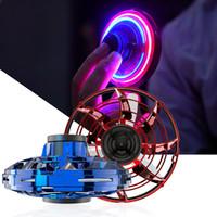 Wholesale girl electric toys resale online - In Stock FlyNova Flying toy UFO Fidget Spinner Portable Rotation LED Lights Spinning Fingertip Christmas Gift Toys