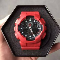 Wholesale g bracelet watches for sale - Group buy 2019 New Fashion Mens Bracelet Watches G style Outdoor Quartz Wrist Shock Watch High Quality LED Digital Clock for Relojes Hombre Saat Gift