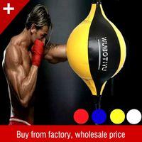 ingrosso palla per il fitness-PU Boxing Training Punching Bag man Fitness Muay Thai Double End Boxing Speed Ball Pera Attrezzatura da boxe gonfiabile Bodybuilding