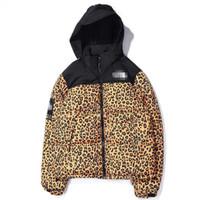 leopar erkek hoodie toptan satış-Kış Erkek Kadın Tasarımcı Parkas Marka Ceketler Aşağı Ceket Rüzgarlık Kamuflaj Leopar Moda Rahat Açık Mont Fermuar Hoodies 9972CE