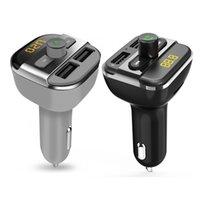 mp3 flash usb sd kartı toptan satış-BT20 Bluetooth FM Verici Handsfree FM Modülatör Araba MP3 Çalar Desteği Flash Sürücü TF / SD Kart Ile Çift USB Şarj Portu
