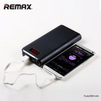 remax power bank ladegerät großhandel-REMAX Dual USB LED-Licht Tragbar 10000 - 30000 Mah Powerbank Powerbank mit hoher Kapazität Externe Mobiltelefone PC-Ladegerät