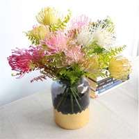 Wholesale plastic decorative pieces for sale - Group buy Fake Pincushion Flower heads piece quot Length Simulation Plastic Leucospermum Spp for Wedding Home Decorative Artificial Flowers