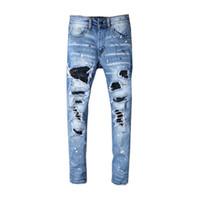 entrepierna vaqueros al por mayor-Pantalones de diseñador para hombre Nuevo estilo Casual Pantalones de chándal flacos Pantalones vaqueros de diseñador para hombre Caída de la entrepierna Pantalones de jogging Pantalones para hombre