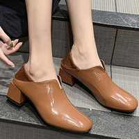 Wholesale wear rubber shoes resale online - European Style Ankle Boots for Women s Autumn Solid Color Square Head Square root Thick Heel Women Boots Two Wearing Shoes