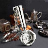 ingrosso anello dei monili del caffè-12 stili tazza creativa regalo mini Macchine da caffè di Keychain del supporto Charm Ciondolo auto Portachiavi chiave del metallo Auto gioielli anelli di metallo Bag Accessori auto M583Y