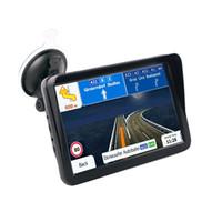 gps güneş güneşlik toptan satış-9 Inç Araba Kapasitif Ekran Gps Navigator Bluetooth Fm 8G 256 M Mp3 / Mp4 Oyuncular Güneşlik Sürüş Ses Navigator