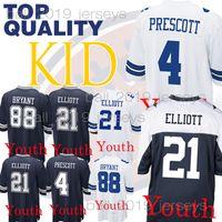 8d4f67504cb Kids Dallas jerseys Cowboys Dak 4 Prescott Ezekiel 21 Elliott youth Dez 88  Bryant boy clothes