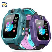 rastreador infantil reloj impermeable al por mayor-Z6 Bluetooth Smart Watch Tarjeta SIM a prueba de agua Ubicación LBS SOS Emergency Child Tracker Niños Safe Smartwatch para iPhone Android Smartphone
