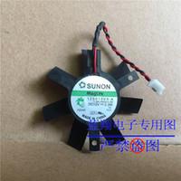 ventilador de 12 v 2 hilos al por mayor-Original SUNON 124010VM 14.MS.CT.57.B487 12V 1.0W 2Wire Para MSI 5600 5900 VGA Fan, 125010VX-A 11.MS.B3535.X.GN 12V 2.3W 2Wire Fan