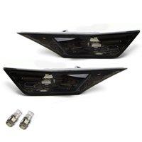 Wholesale h led lights resale online - Smoked Lens White LED Bulb Front Side Marker Light Kit for Up H onda Civic Sedan Coupe Hatchback