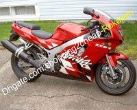 carenado para kawasaki ninja rojo zx6r al por mayor-ABS carenados de plástico Kit para Kawasaki Ninja ZX 6R ZX6R 1997 1996 1995 1994 ZX6R Rojo Blanco Negro Carrocería del carenado Conjunto