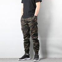 mode armee hose großhandel-Autumn Fashion Herren Jogger Camo Pants Camouflage Cargohose Herren Army Homme Hip Hop US Größe S-XL