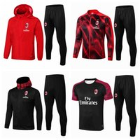 Wholesale Survetement Tracksuits AC Soccer Sets IBRAHIMOVIC PIATEK CALHANOGLU Milan tracksuit hoodies football jacket set