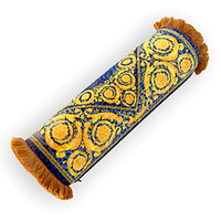 Wholesale cylinder body resale online - Cylinder Luxury Medusa Royal Blue Designer Decorative Pillows Covers Baroque Velvet Thicken Tassel Cushion Case Creative Brand Home Cojines