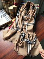ingrosso cachemire di qualità-Sciarpe lunghe in velluto di alta qualità 100% anello Designer Designer Sciarpa morbida Scialle di lusso Sciarpa uomo classica più venduta taglia220-70 con scatola