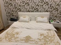 Wholesale egyptian cotton sheets for sale - Group buy 4PCS White Egyptian Cotton Bedding Set King Queen Size Bed Set Luxury Golden Embroidery Bedding Sets Bed Sheet Set Duvet Cover
