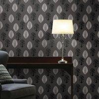 fondos de pantalla únicos al por mayor-Unique Luxury Fondo clásico papel de pared Decoración pared papel pintado del damasco blanco y negro de terciopelo Revestimiento de paredes del papel pintado 3D de la sala
