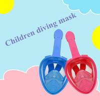 espelho anti nevoeiro venda por atacado-Crianças Snorkeling Máscara Máscara de Mergulho Nariz Respiração Espelho de Mergulho Set Anti-Fog Snorkeling Máscara 5 Cores ZZA432