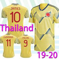 futbol oyunları toptan satış-2019 Copa América Columbia Futbol Forma 19/20 Ev Futbol Gömlek 10. JAMES Erkekler Futbol Üniforma Kısa Kollu Oyun gömlek satışı
