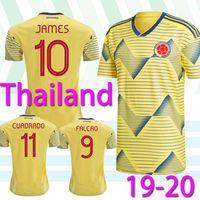 camisa do futebol do jogo venda por atacado-Copa América de 2019 Columbia Soccer Jersey 19/20 Início da camisa do futebol # 10 JAMES Homens Football Uniform camisa de manga curta Jogo Venda