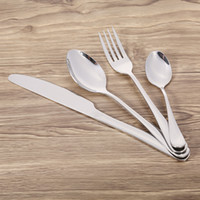 Wholesale fork knife spoon high quality resale online - 100 brand High End Western Tableware Set Stainless Steel Good Quality Fork Knife Dessert Utensils Kitchen Home Use Deals Tools