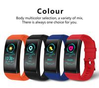 relojes inteligentes andriod al por mayor-QW18 Pulsera inteligente Reloj Sport Color Heart Rate Podómetro Banda IP68 Impermeable Pulsera Rastreador de ejercicios para Iphone andriod