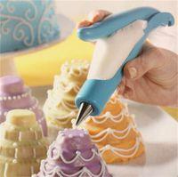 caneta de pastelaria venda por atacado-dica de decoração do bolo Pen define Extrusora Pastry Bag DIY Bico Simples Cozinha cozimento produtos Hote venda 14 2dd UU