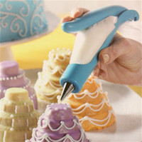 hote satış toptan satış-Pasta Süsleme Kalem ucu Extruder Krema Torbası DIY Nozul Basit Mutfak Pişirme Ürünleri Hote İndirimli 14 2 dd UU setleri