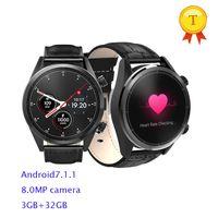 телефон 32gb оптовых-1.39 дюймов Android 7.1 MTK6739 Quad Core 1.3 GHz 3GB RAM 32GB ROM 8.0 MP Камера 4G Smart watch Мужчины Женщины смарт-часы телефон для ios