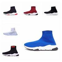 baskets paillettes achat en gros de-NIKE Hot Speed Trainer hommes femmes Chaussettes Chaussures noir blanc bleu paillettes plat casual chaussures De luxe Hommes Baskets Runner Baskets taille 36-45