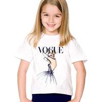 moda belleza niños al por mayor-Los niños imprimen moda de moda Camisetas de camisetas Camisetas de manga corta de verano para niños Grandes tops para bebés Ropa para niños / niñas, HKP2118