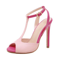 Wholesale sexy pink peep toe heels for sale - Group buy Peep Toe Pink Summer High Heels Shoes Women Sandals Peep Toe Sexy Party Female Ladies Shoes Woman Sandalias Big Sizes Female