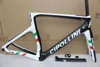 größe rennrad headset großhandel-Schwarz weiß Cipollini NK1K 1K / 3K T1000 Carbon Rennrad Rahmen Mit Gabel + Sattelstütze + Klemme + Steuersatz Größe XXS, XS, S, M, L