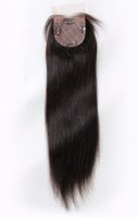 Wholesale Top a Silk Base Top Closure inches Natural Straight Brzilian Virgin Human Hairs For Women