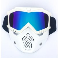 Wholesale helmet motorcycle sale for sale - Group buy New Sales Modular Mask Detachable Goggles And Mouth Filter Perfect for Open Face Motorcycle Half Helmet or Vintage Helmets