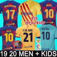 erkekler forma giyenler toptan satış-FC BARCELONA futbol forması 19 20 futbol camisetas ANSU FATI 2019 2020 Messi GRIEZMANN DE JONG Futbol formaları erkekler çocuklar kiti