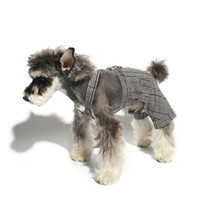 Wholesale dog rompers resale online - Dog Overalls Jumpsuit Rompers Yorkie Poodle Bichon Pomeranian Schnauzer Puppy Pug Clothes Dog Costume Apparel Outfit Dropship