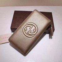 ingrosso lettera h-Qualità Top h lusso di disegno della celebrità lettera di goffratura Zipper Portafoglio in pelle borsa lunga pelle bovina reale Canvas 308004 Clutch
