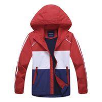 Wholesale boys school jackets resale online - New Children Winter spring big school teenage boy girl Waterproof hooded camping sports fleece jacket coat outdoor kids clothes