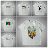 ingrosso la testa della maglietta delle donne stampata-GUCCI 2019 brnad Summer Uomo T Shirt Stampa di lettere Per donna Top Maglietta testa Abbigliamento uomo Maglietta manica corta Donna Top # 61254