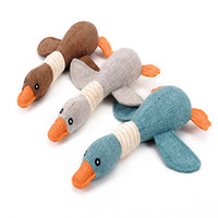 Wholesale plush duck dog toy for sale - Group buy Pet burlap toy burlap duck toy for dog bite vocal wild duck Squeaker cat Squeaky Plush Sound toy