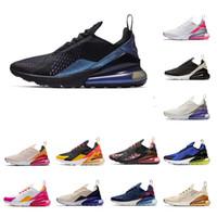 tn entrenadores negros al por mayor-2019 Nuevo 270Hombres Mujeres Zapatos para correr Tiger Triple Black White Road Star BHM Iron Designer Trainers Sport Sneakers 36-45