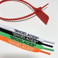 atar cordones de los zapatos al por mayor-Cordones de los zapatos cordones de zapato OFF Blanco Negro Rojo Verde Zip Tie Tag accesorios de la pieza 1M Con Rojo Zip Tag zapatos blancos
