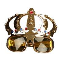 taç gözlükleri toptan satış-Doğum Hediye Parti için Hen Parti Kostüm Gözlük Elektrolitik Güneş gözlüğü için Jewel ile güzel Taç Dekorasyon Malzemeleri